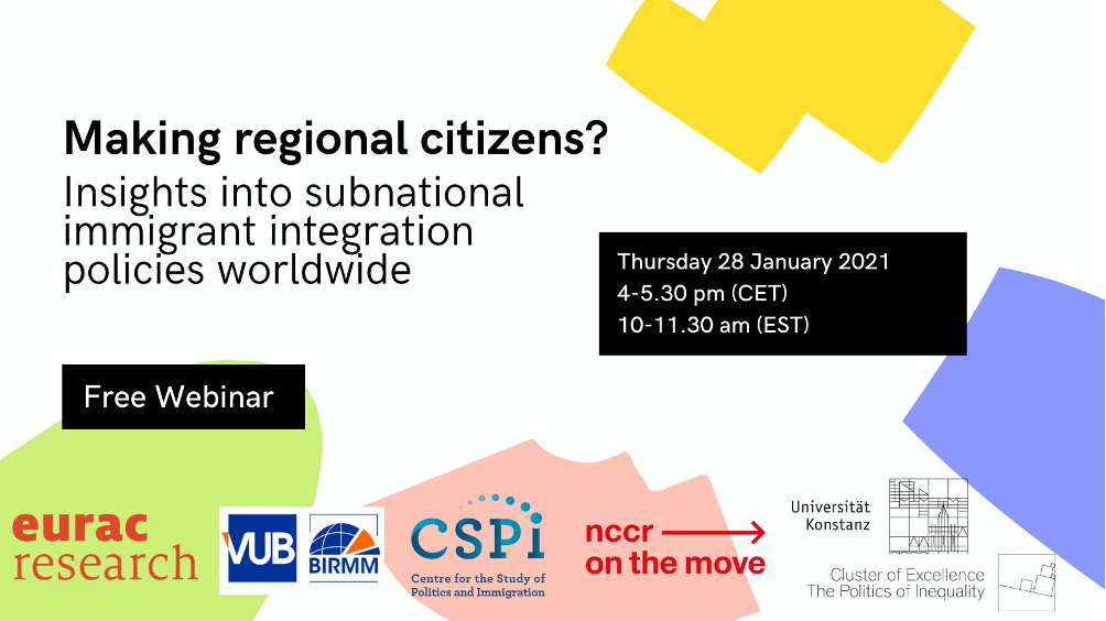 Banner for: Making regional citizens? Insights into subnational immigrant integration policies worldwide.